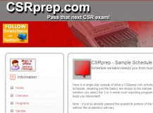 CSR Exam Prep